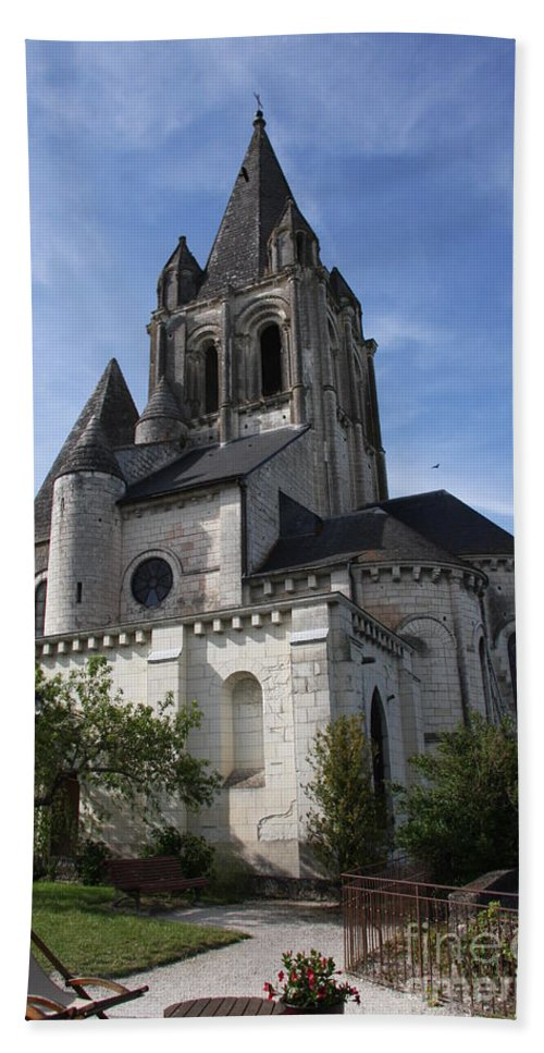Church Bath Sheet featuring the photograph Church - Loches - France by Christiane Schulze Art And Photography