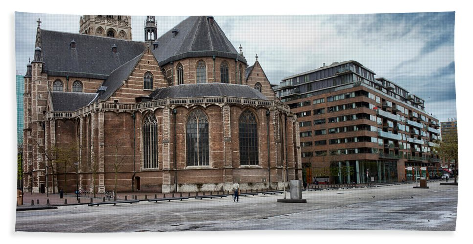 St. Hand Towel featuring the photograph Church Of St Lawrence In Rotterdam by Artur Bogacki