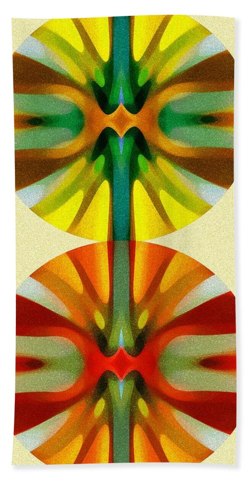 Abstract Bath Sheet featuring the painting Circle Pattern 2 by Amy Vangsgard