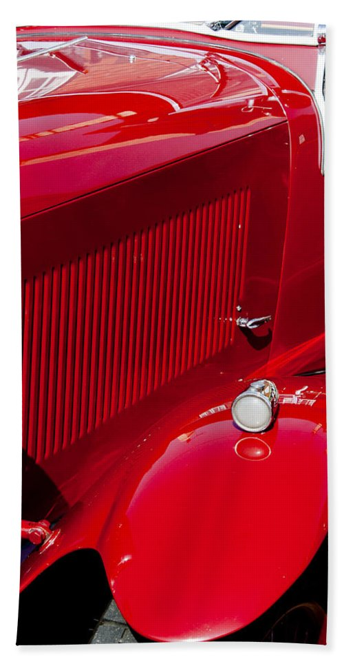 Red Bath Sheet featuring the photograph Classic Curves by Peter Lloyd