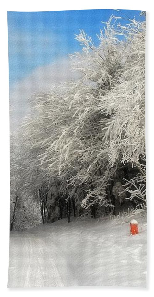 Snow Hand Towel featuring the photograph Clearing Skies by Lois Bryan
