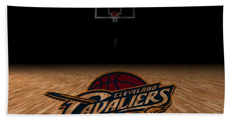 Cavaliers Bath Sheet featuring the photograph Cleveland Cavaliers by Joe Hamilton