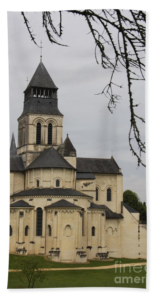 Cloister Hand Towel featuring the photograph Cloister Fontevraud - France by Christiane Schulze Art And Photography