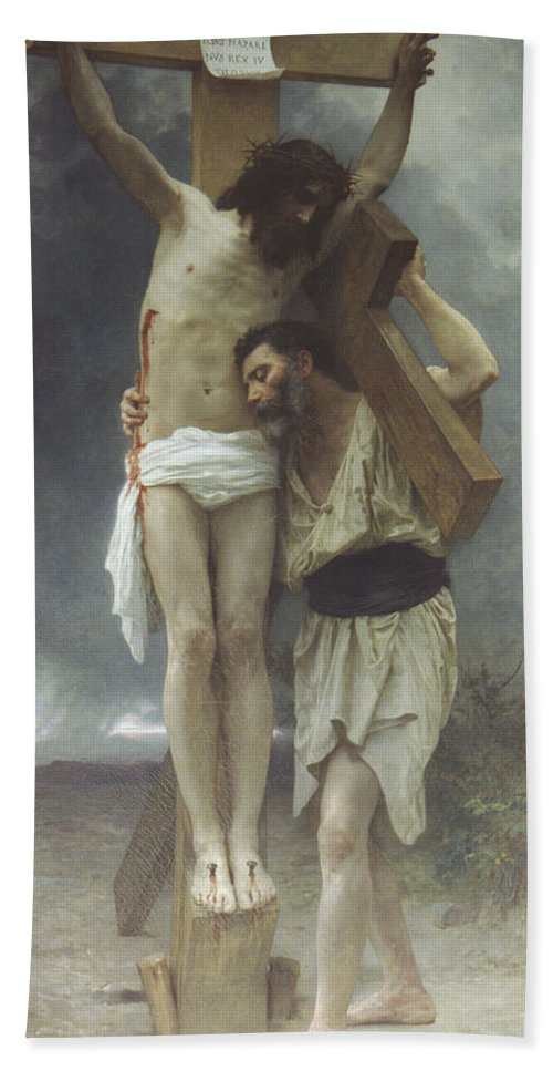 William Bouguereau Hand Towel featuring the digital art Compassion by William Bouguereau