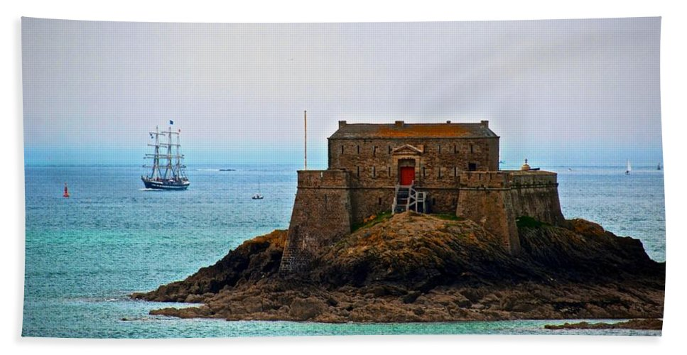 France Hand Towel featuring the Corsairs' Home by Eric Tressler