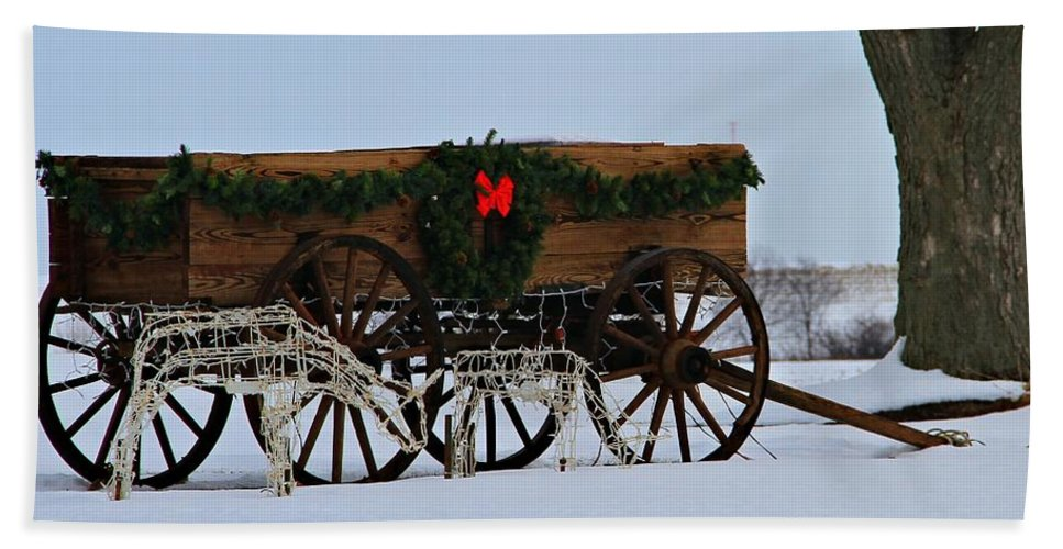 Country Christmas Hand Towel featuring the photograph Country Christmas by Dan Sproul