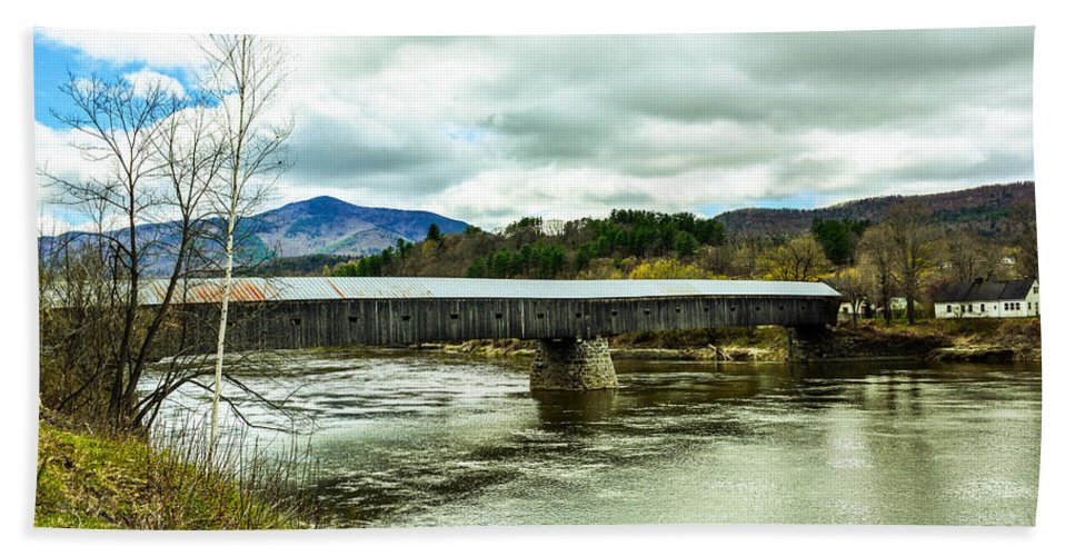 Bridge Bath Sheet featuring the photograph Covered Bridge by Sherman Perry