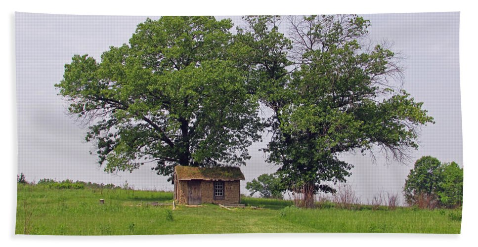 Scene Bath Sheet featuring the photograph Cozy Shack by Jamie Smith