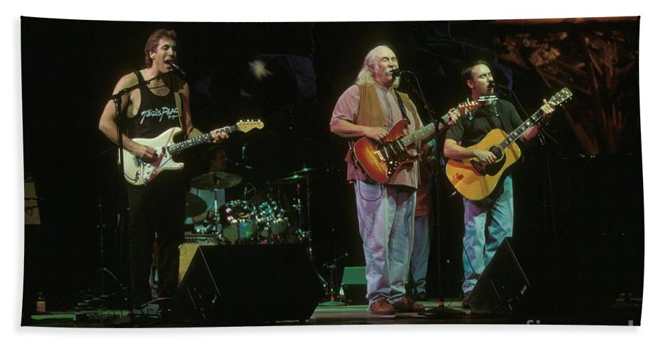 Appearance Bath Sheet featuring the photograph Cpr Crosby Pevar And Raymond by Concert Photos