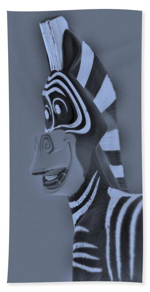 Zebra Bath Sheet featuring the photograph Cyan Zebra by Rob Hans