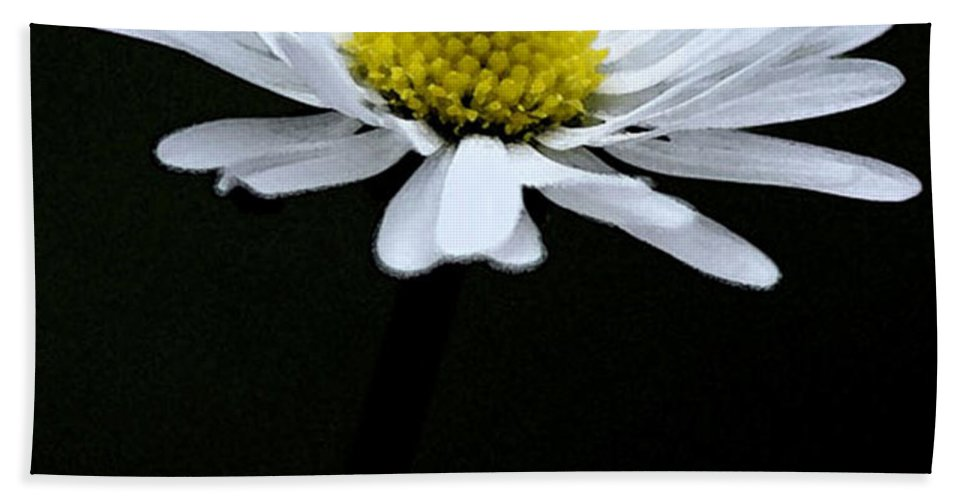 Daisy Bath Sheet featuring the digital art Daisy 1 by Carol Lynch