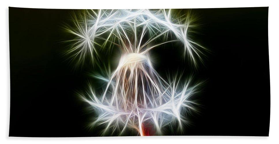 Nature Hand Towel featuring the digital art Dandelion by Michal Boubin