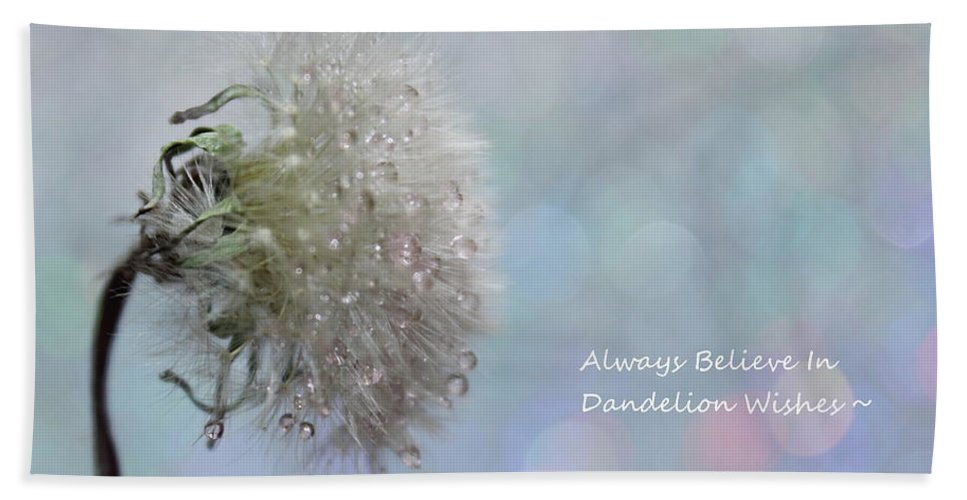 Dandelion Bath Sheet featuring the photograph Dandelion Wishes by Krissy Katsimbras