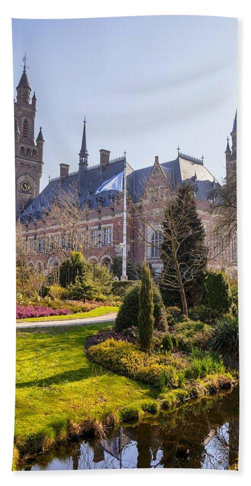 Peace Palace Bath Sheet featuring the photograph Den Haag by Joana Kruse