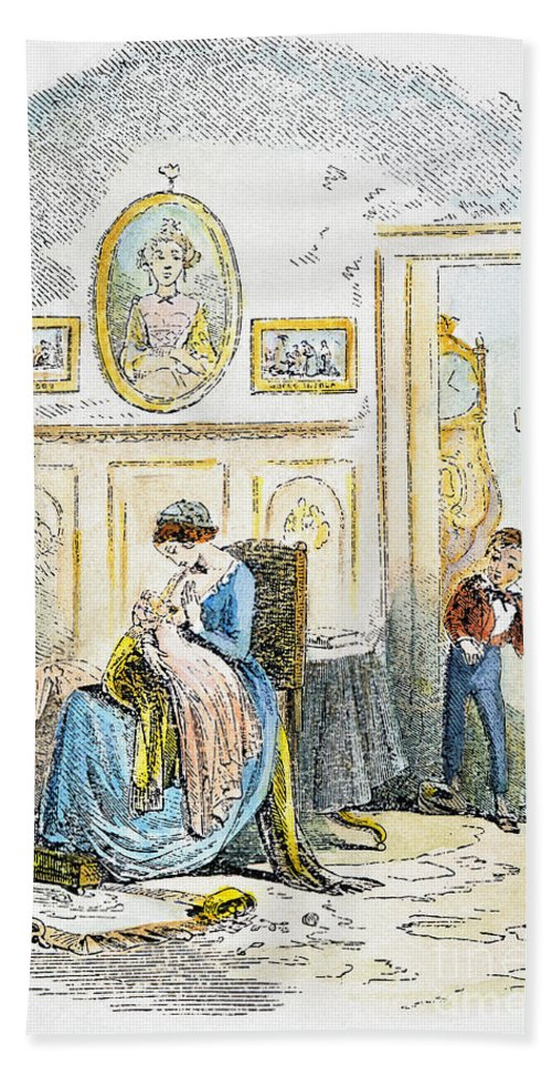 19th Century Bath Sheet featuring the photograph Dickens: David Copperfield by Granger