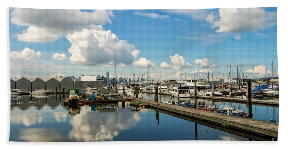 Ocean Hand Towel featuring the photograph Dockside by Brigitte Mueller