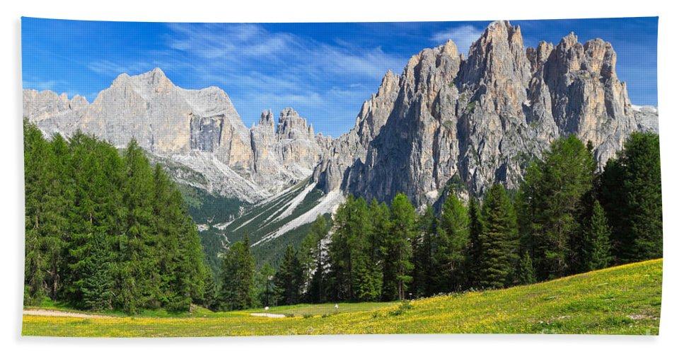 Summer Bath Sheet featuring the photograph Dolomites - Catinaccio Mount by Antonio Scarpi