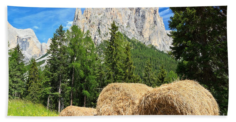 Alps Hand Towel featuring the photograph Dolomiti - Alpine Pasture by Antonio Scarpi