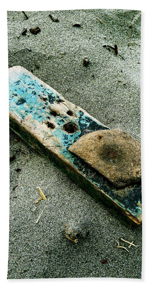 Sand Bath Sheet featuring the photograph Driftwood by Steve Taylor
