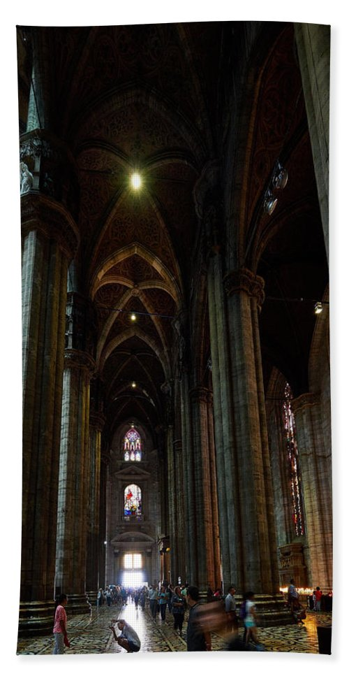 Francacorta Hand Towel featuring the photograph Duomo. Milano Milan by Jouko Lehto