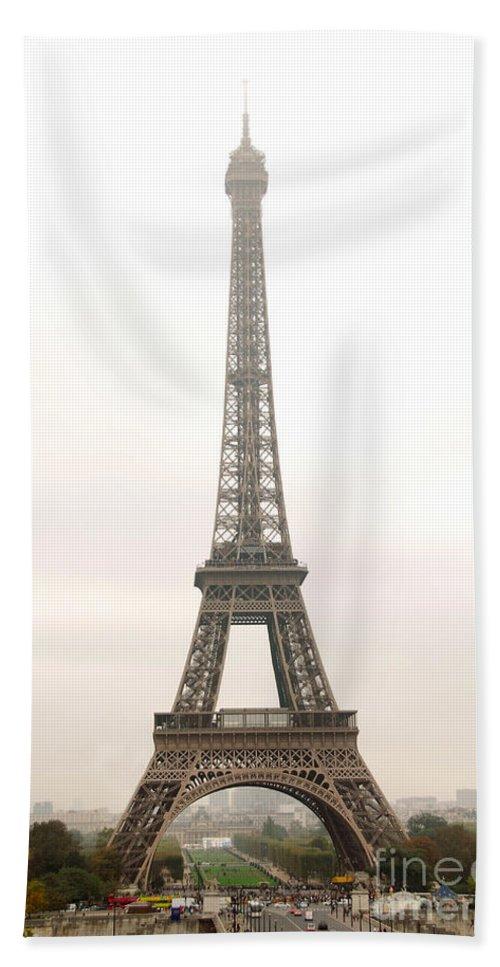 Eiffel Hand Towel featuring the photograph Eiffel Tower by Elena Elisseeva