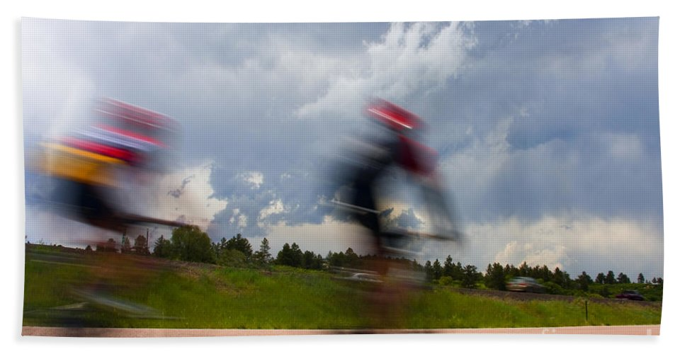 Bicycle Hand Towel featuring the photograph Elephant Rock Century Ride by Steve Krull
