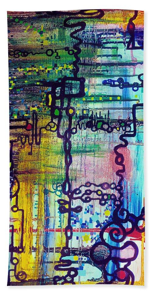Order Bath Sheet featuring the painting Emergent Order by Regina Valluzzi