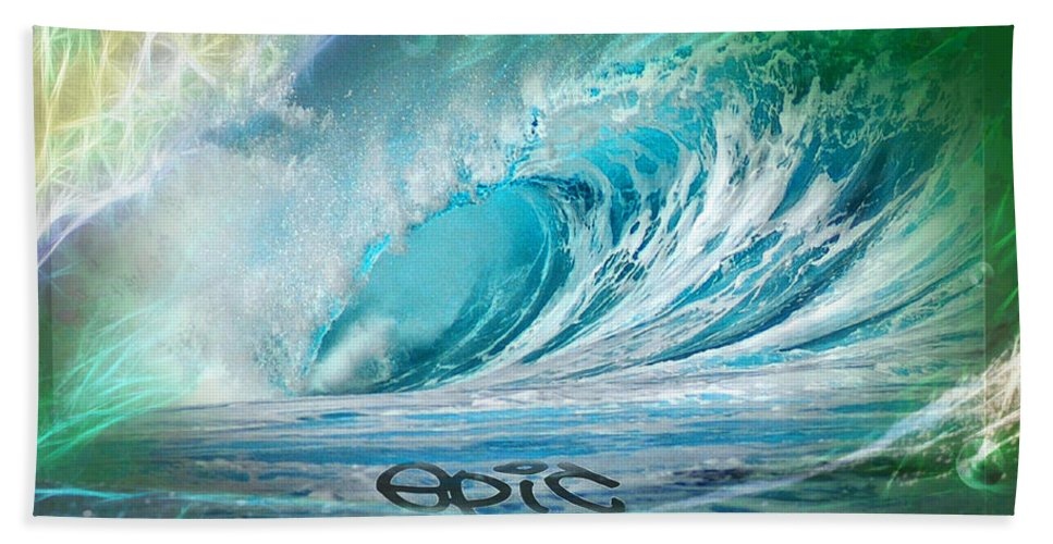 Surfing Bath Sheet featuring the photograph Epic by Robert Roland