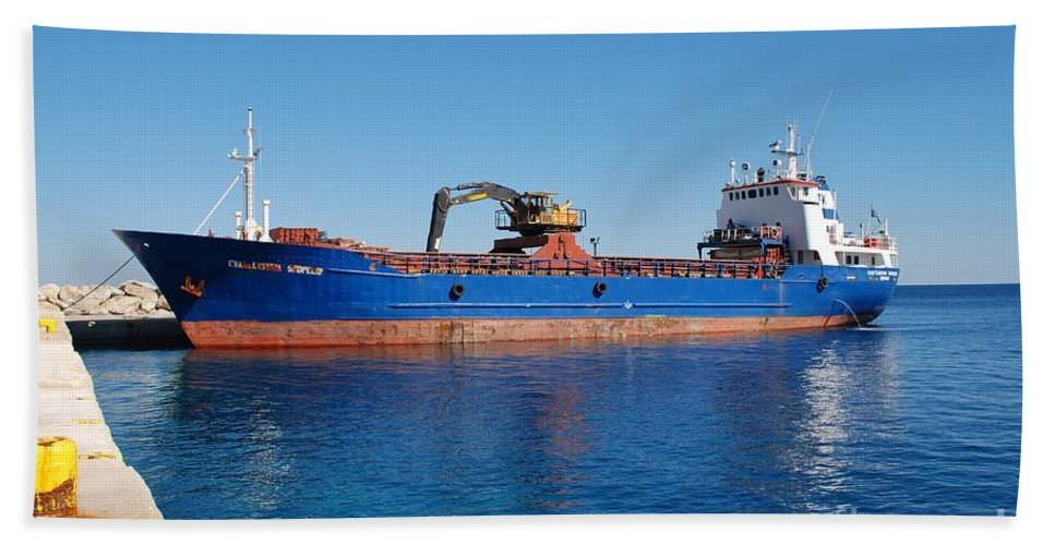 Evagelistra Skopelou Supply Ship Bath Towel