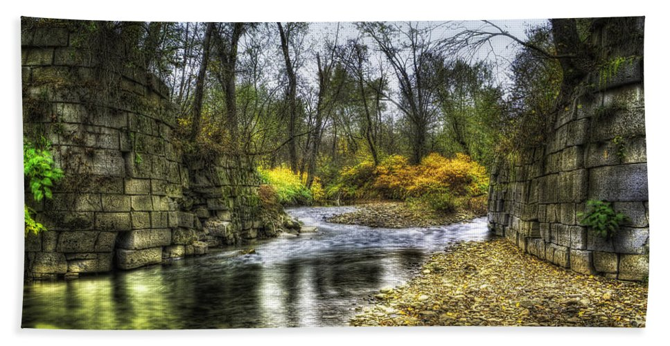 Surreal Hand Towel featuring the photograph Fall Creek by David B Kawchak Custom Classic Photography