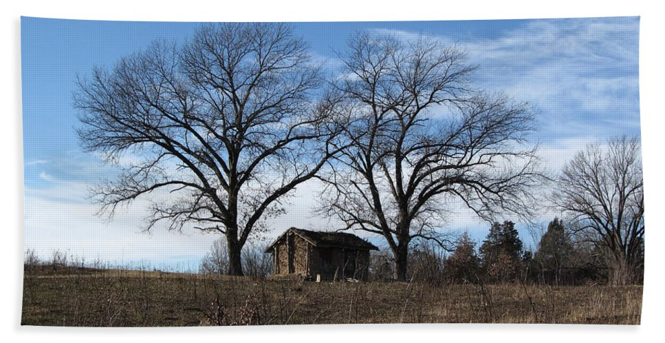Scenery Bath Sheet featuring the photograph Fall Scene by Jamie Smith