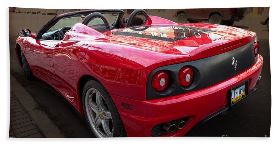Ferrari Hand Towel featuring the photograph Ferrari 360 Spider by David B Kawchak Custom Classic Photography