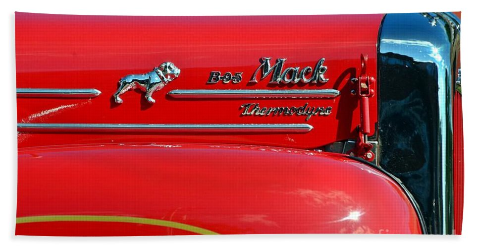 Fire Truck Hand Towel featuring the photograph Fire Truck by Randy J Heath