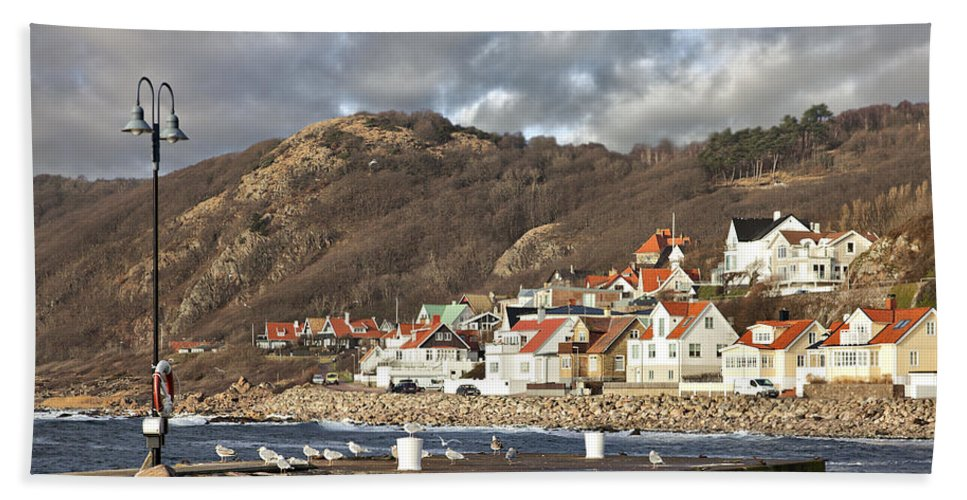 Sweden Hand Towel featuring the photograph Fishing Village Of Molle In Sweden by Sophie McAulay