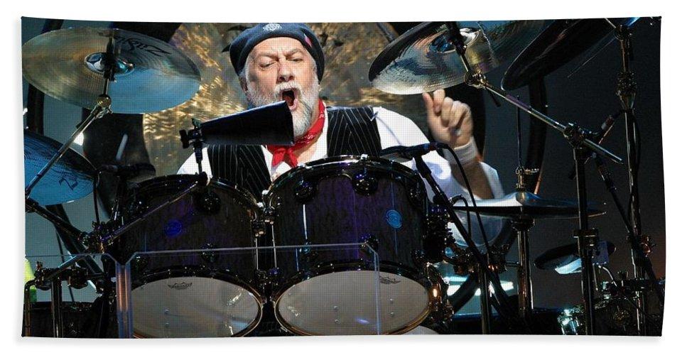 Drummer Bath Sheet featuring the photograph Fleetwood Mac by Concert Photos