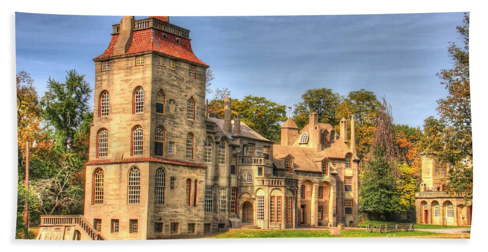 Fonthill Bath Sheet featuring the photograph Fonthill Castle by Traci Law