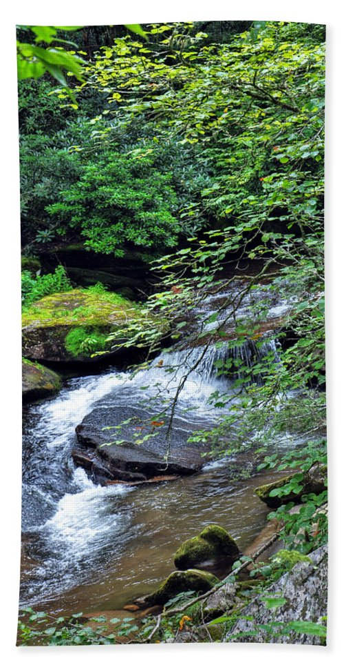 Forest Creek Hand Towel featuring the photograph Forest Creek by Savannah Gibbs