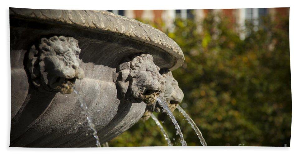 Architectural Bath Sheet featuring the photograph Fountain - Place Des Vosges by Brian Jannsen