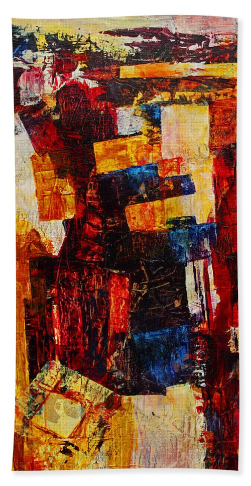 Free Bath Sheet featuring the mixed media Free Falling by Cindy Johnston