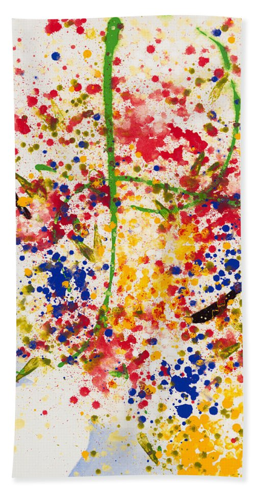 Colorchrome Scans Hand Towel featuring the painting Freedom by Jerome Lawrence