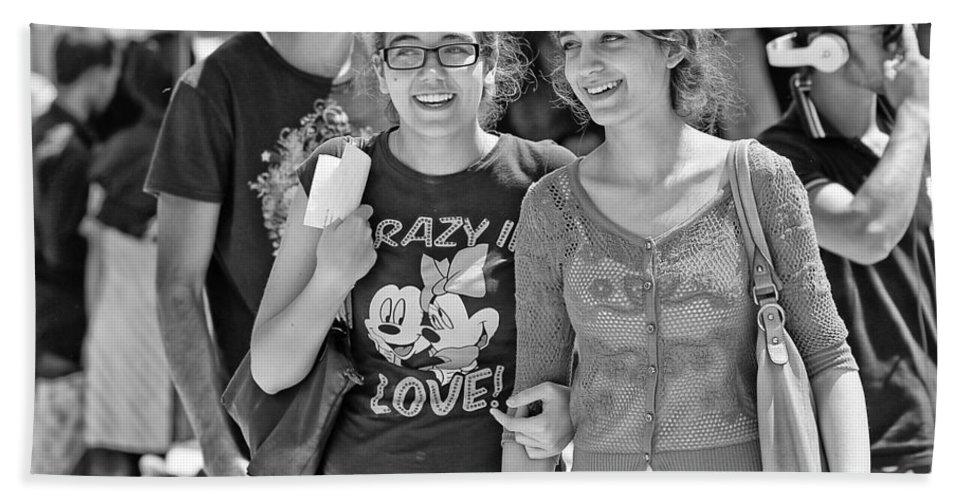 Friends Bath Sheet featuring the photograph Friends by Paul Fell