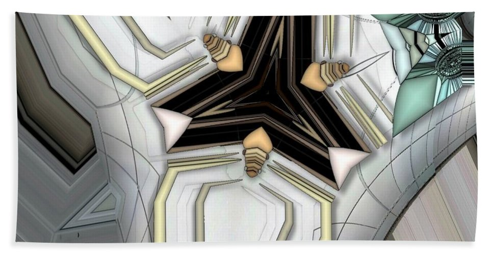 Abstract Bath Sheet featuring the digital art Game Board by Ron Bissett