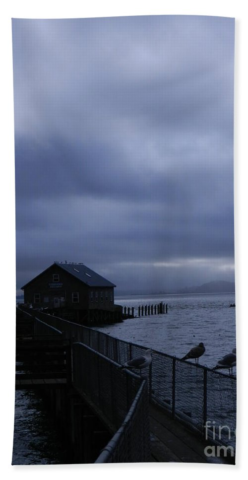 Nature Hand Towel featuring the photograph Garibaldi Pier 1 by Gallery Of Hope