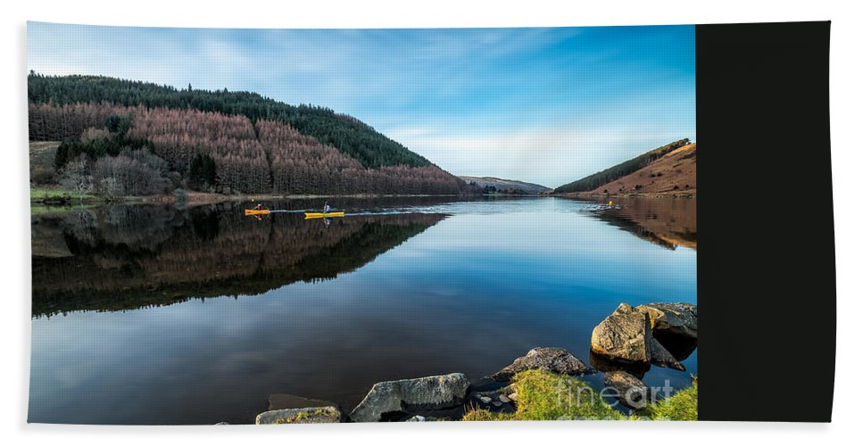 Lake Hand Towel featuring the photograph Geirionydd Lake by Adrian Evans