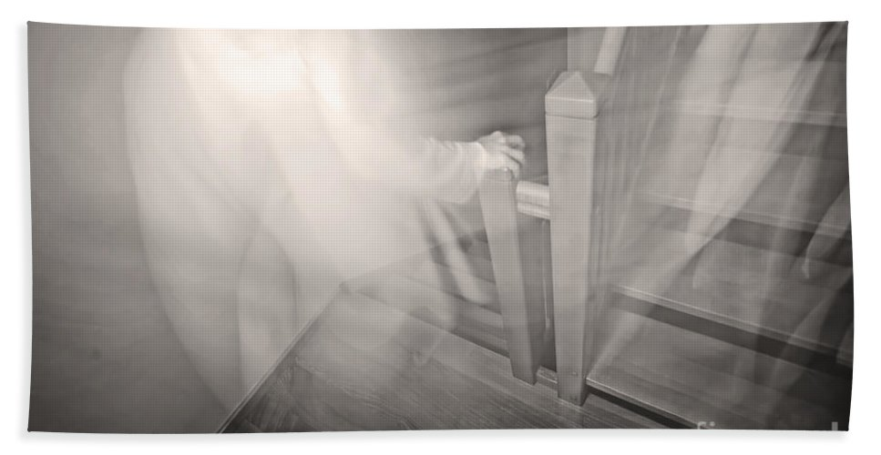 Apparition Hand Towel featuring the photograph Ghost by Michal Bednarek