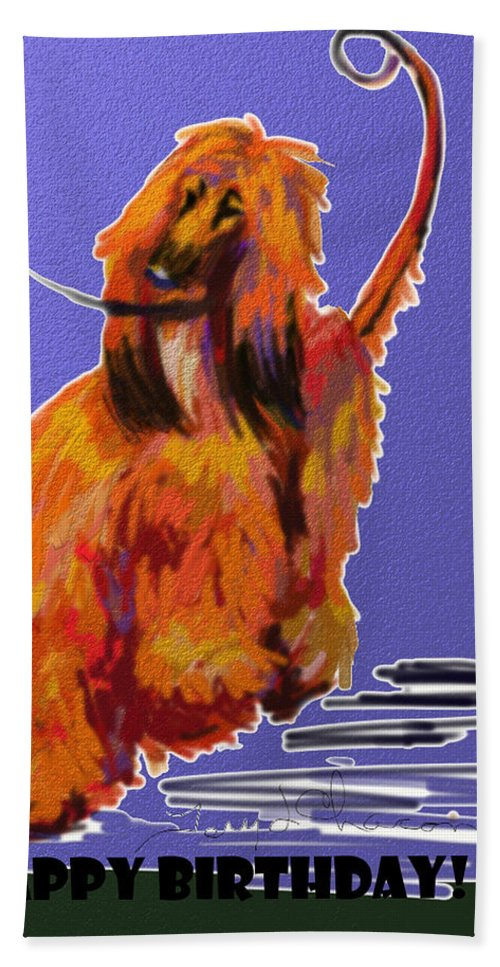 Ipad Finger Painting Hand Towel featuring the painting Go Red Go by Terry Chacon