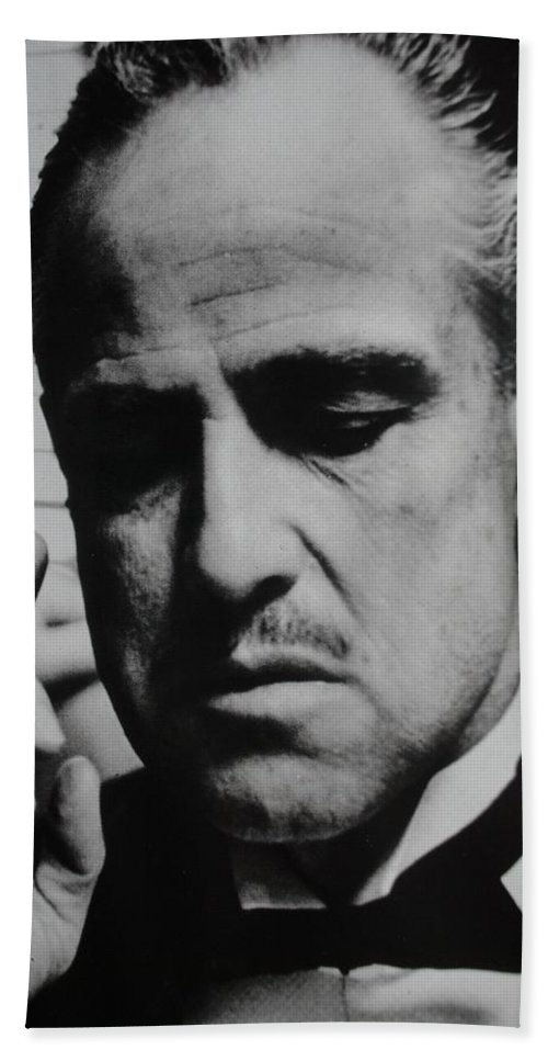 Marlon Brando Bath Sheet featuring the photograph Godfather by Rob Hans