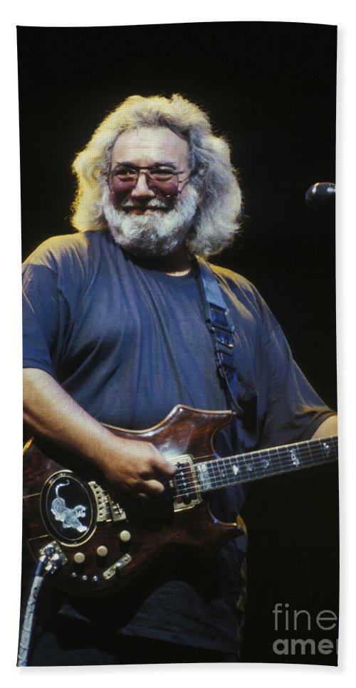 Singer Hand Towel featuring the photograph Grateful Dead - Uncle Jerry by Concert Photos
