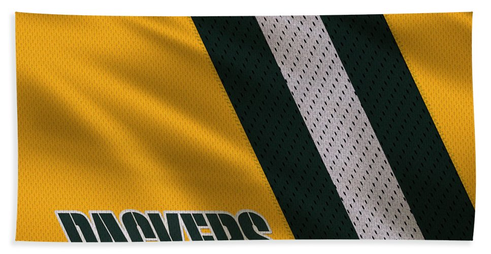 Packers Hand Towel featuring the photograph Green Bay Packers Uniform by Joe Hamilton