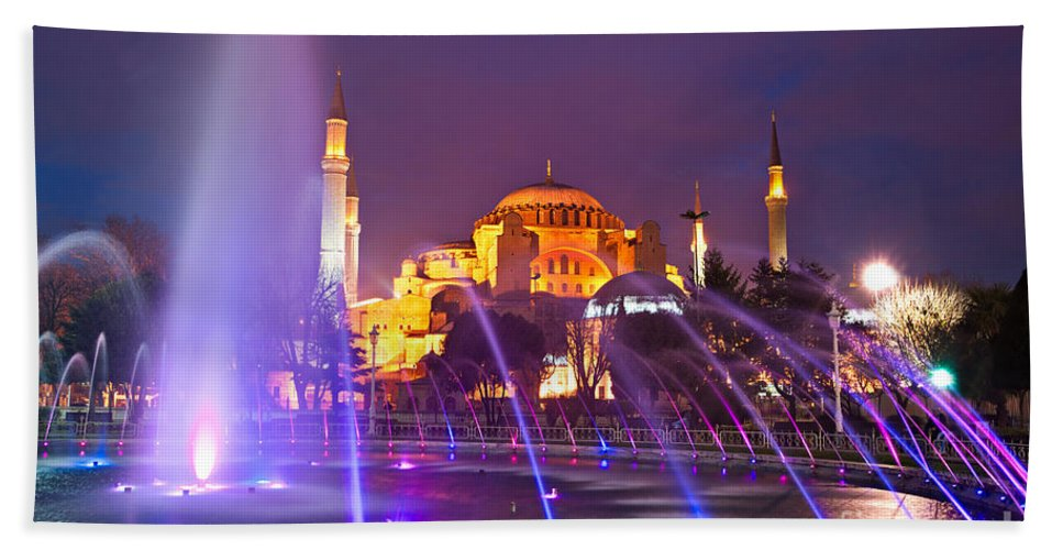 Architecture Bath Sheet featuring the photograph Hagia Sophia - Istanbul by Luciano Mortula